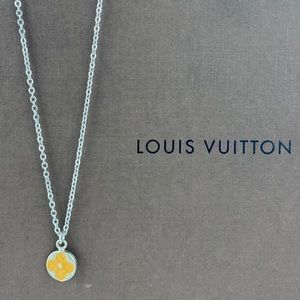 Vintage LOUIS VUITTON Flower Charm Necklace
